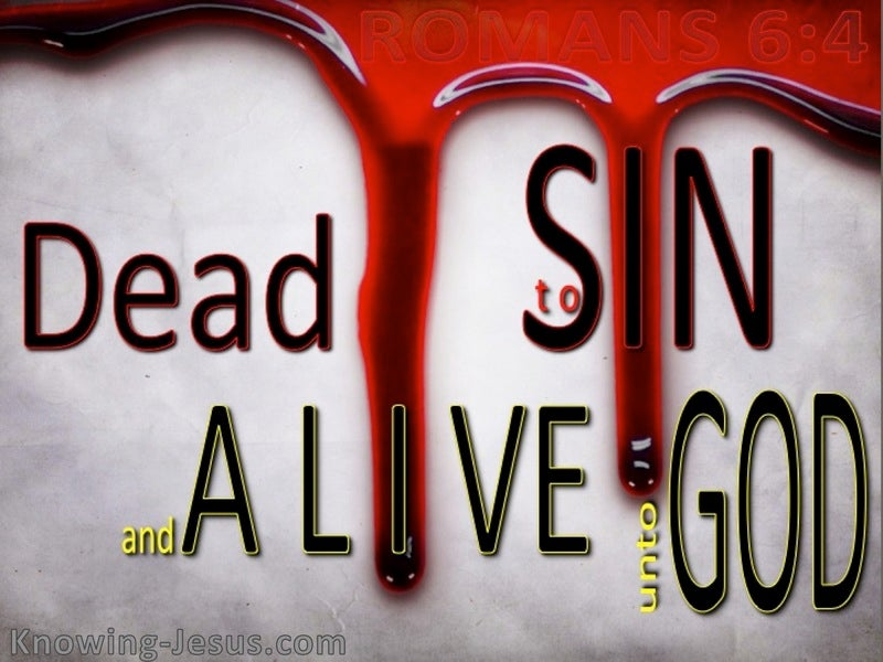 Romans 6:4 Dead to Sin (red)
