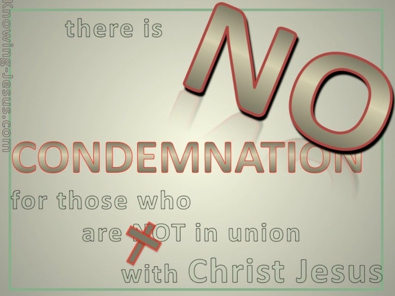 Romans 8:1 No Condemnation In Christ Jesus (green)