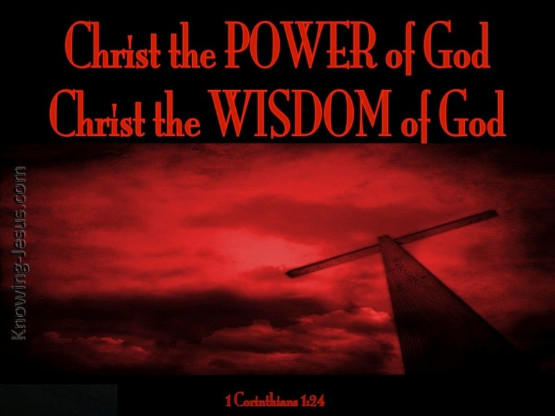 1 Corinthians 1:24 Christ the Power And Wisdom Of God (red)