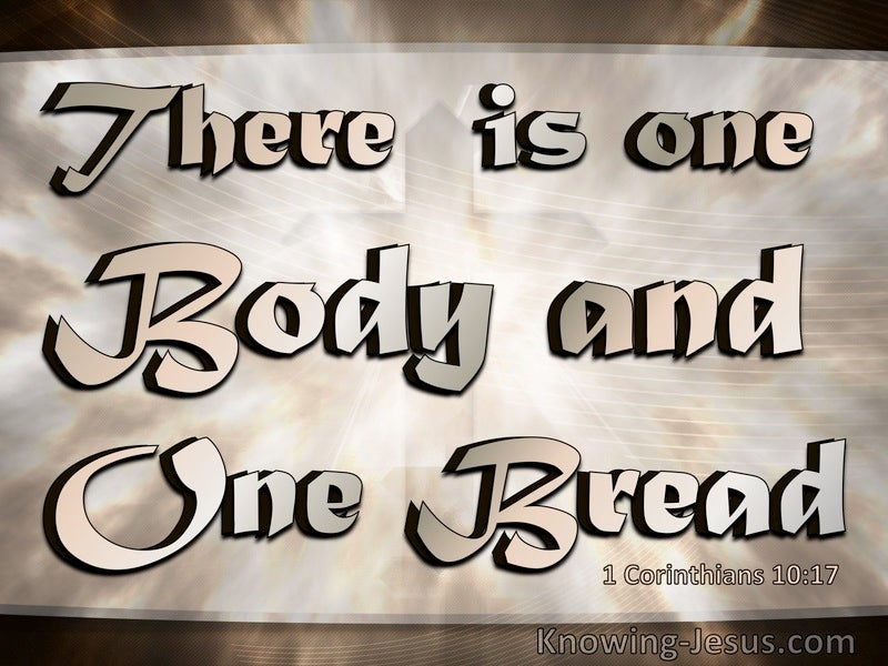 1 Corinthians 10:17 There Is One Bread And One Body (beige)