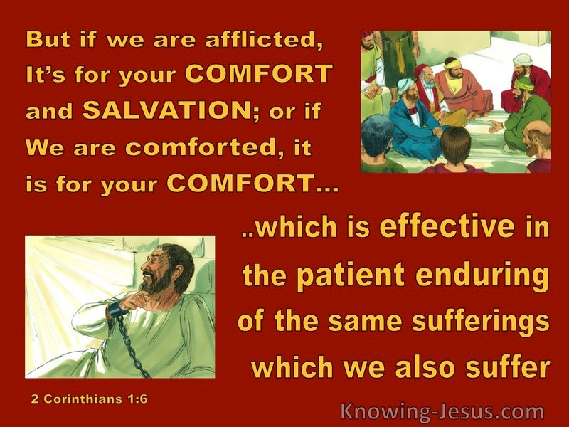2 Corinthians 1:6 Afflicted For Your Comfort And Salvation (red)