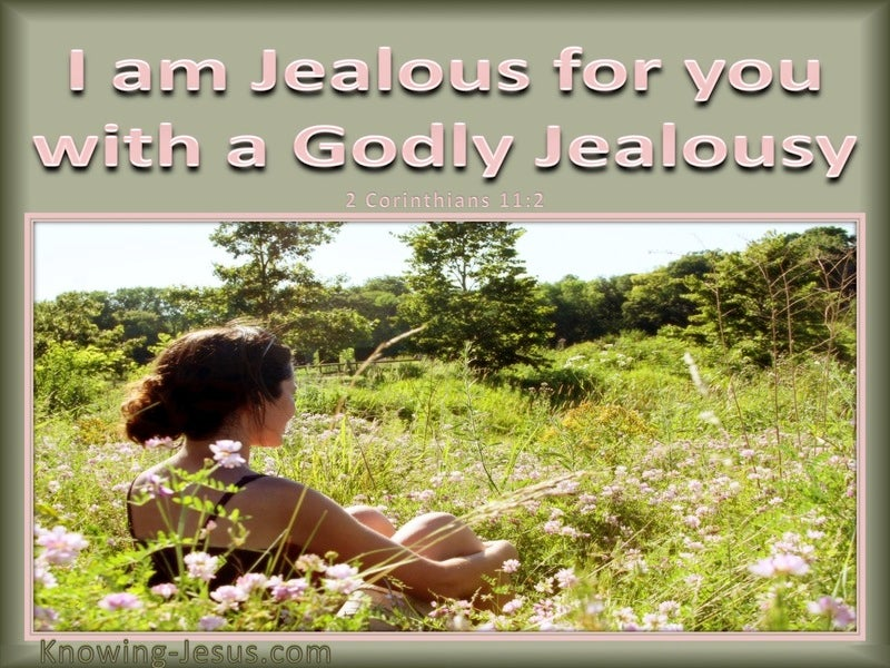 2 Corinthians 11:2 I am Jealous For Your WIth A Godly Jealousy (pink)