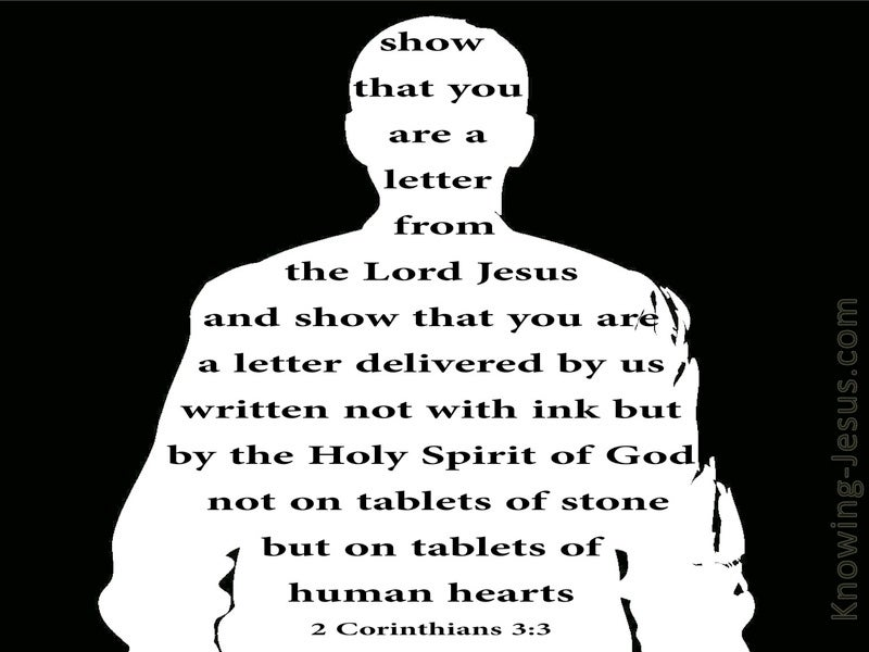 2 Corinthians 3:3 Letters Written On The Heart (white)