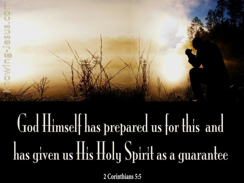 2 Corinthians 5:5 The Holy Spirit Is A Guarantee (black)