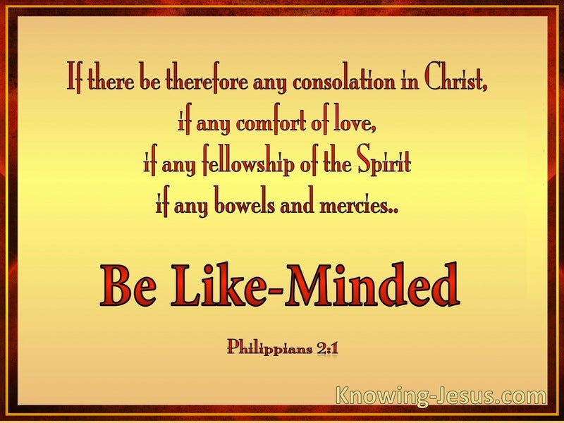 Philippians 2:1 Be Likeminded (gold)