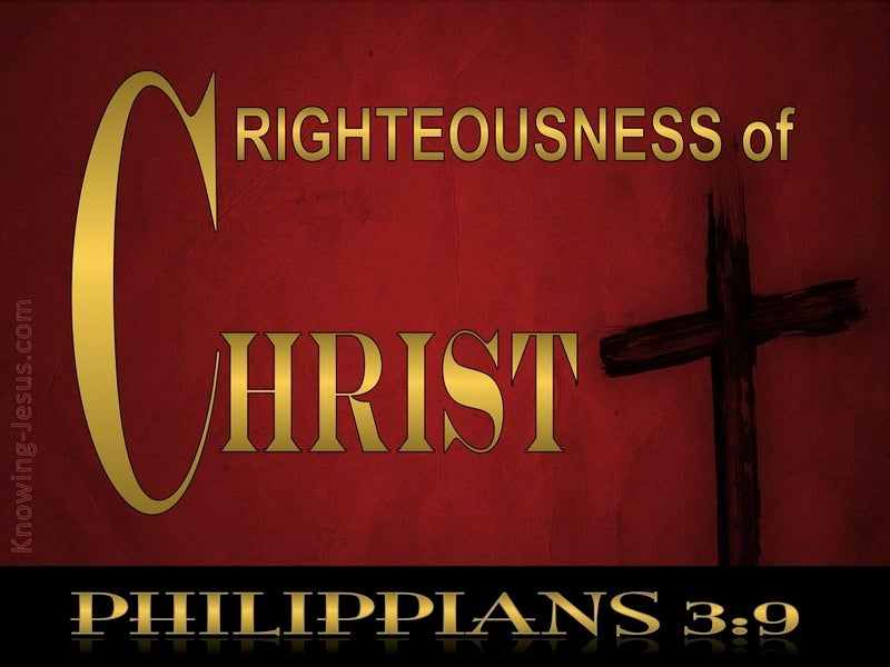 Philippians 3:9 Righteousness Of Christ (gold)