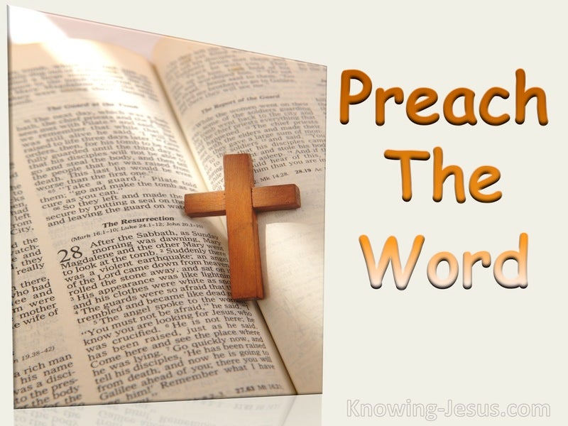 2 Timothy 4:2 A Preach The Word (orange)
