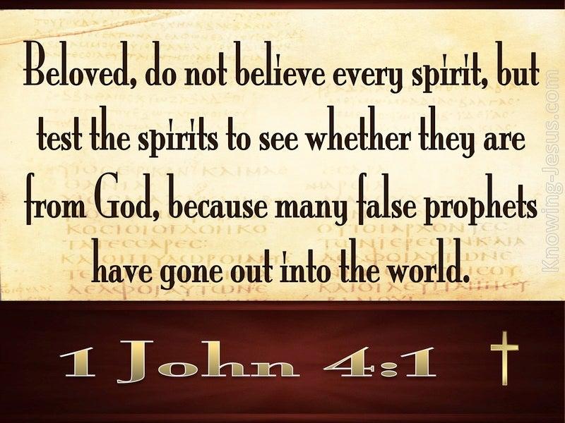 1 John 4:1 Do Not Believe Every Spirit (brown)