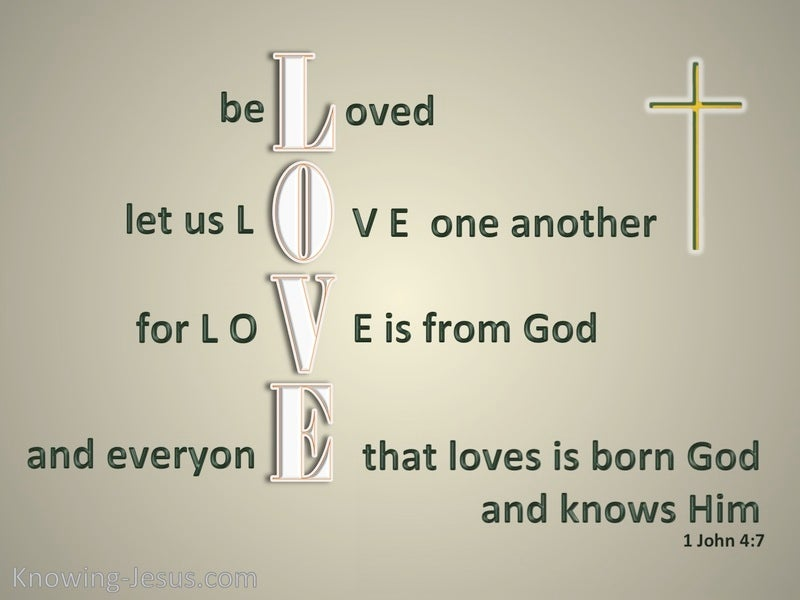1 John 4:7 Beloved Let Us Love One Another (green)