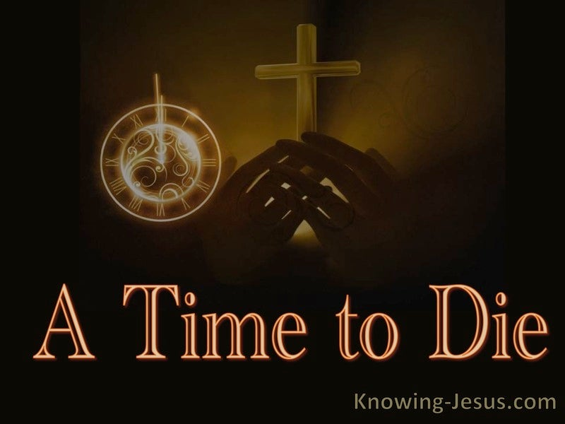 Ecclesiastes 3:2 A Time to Die (devotional)10:31 (brown)