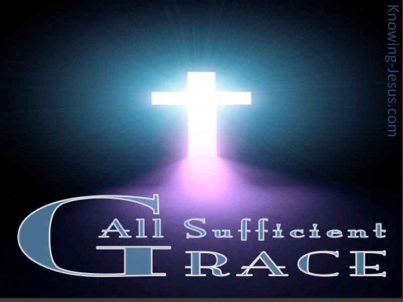All Sufficient Grace (devotional) (navy)
