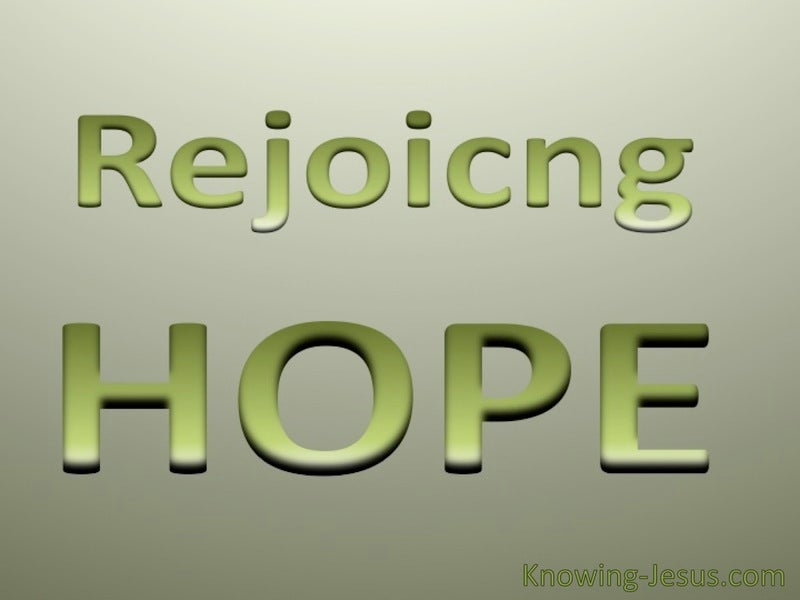 Rejoicing Hope (devotional) (green)