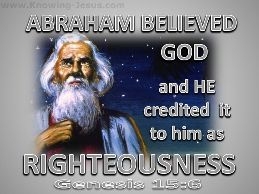 Genesis 15:6 Abraham Believed God (silver)