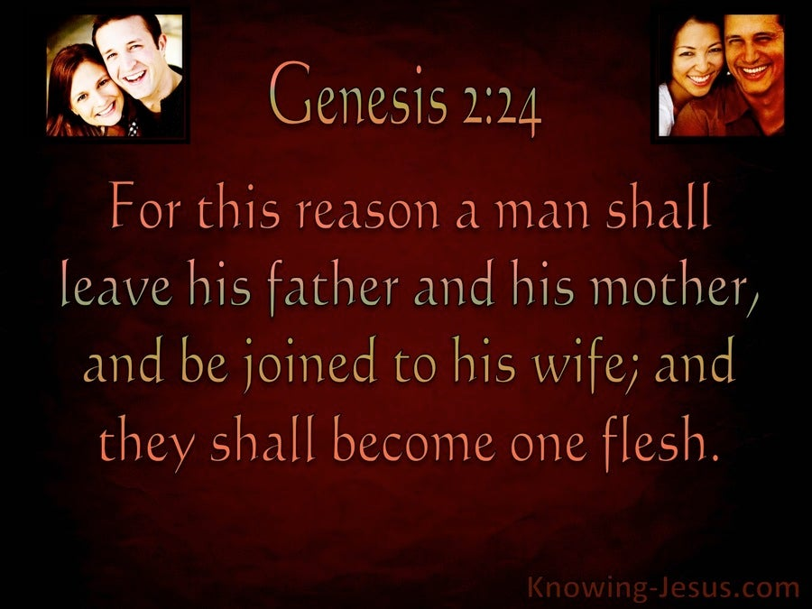 Genesis 2:24 Joined Together As One Flesh (brown)