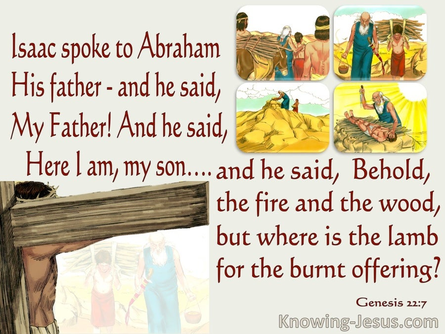 Genesis 22:7 Where Is The Lamb For A Burnt Offering (gray)