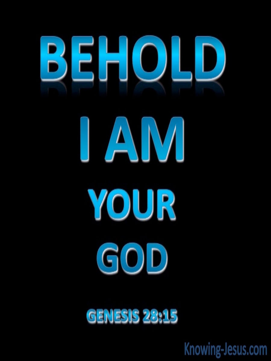 Genesis 28:15 I Am Your God (blue)