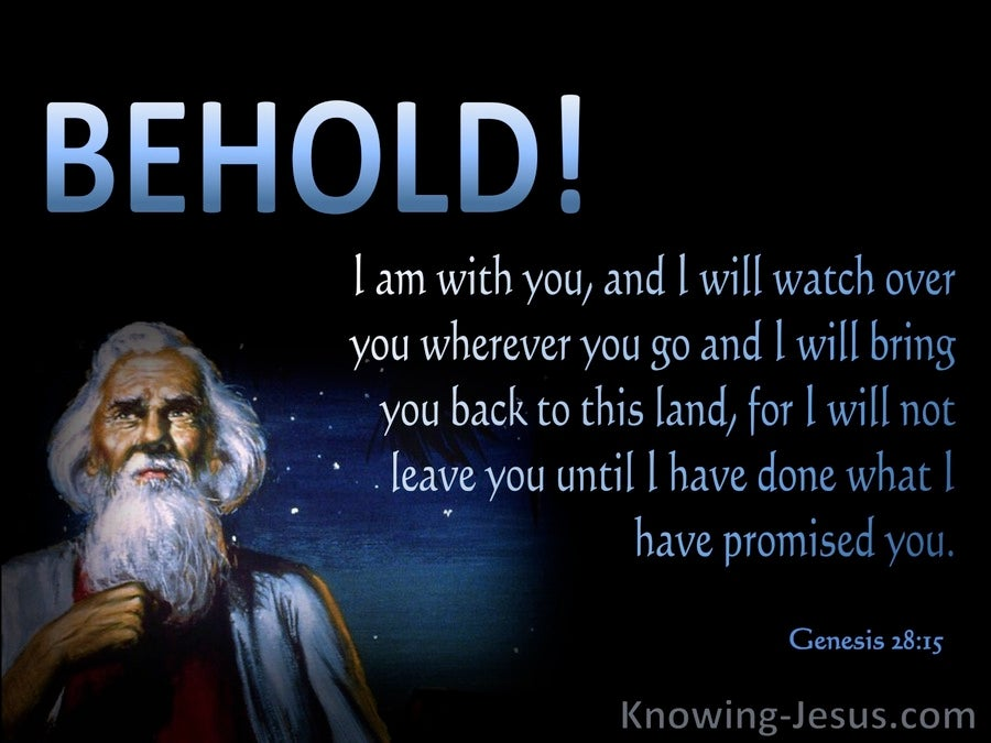Genesis 28 15 Behold I Am With You Blue