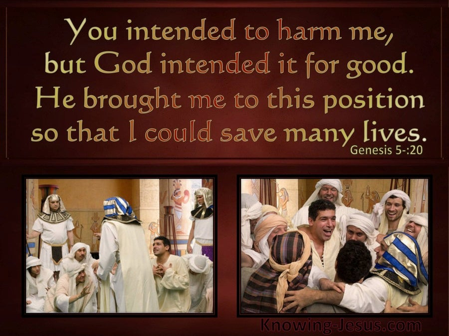 Genesis 50:20 God Intended It For Good (brown)