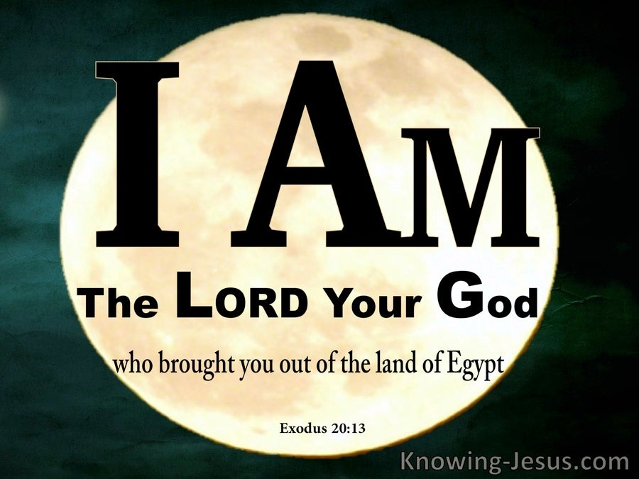 Exodus 20:2 The Lord Your God  Out Of Egypt (black)