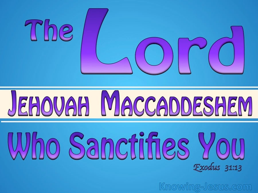 Exodus 31:13 The Lord Who Sanctifies You (blue)