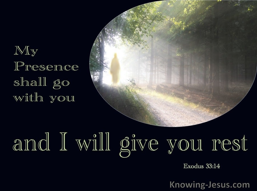 Exodus 33:14 My Presence Shall Go With You (green)