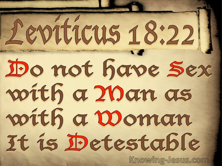 Leviticus 18:22 You Must Not Have Sex Relations With A Male (beige)