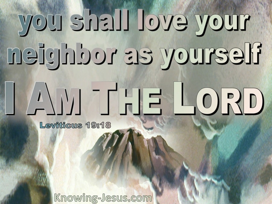 Leviticus 19:18 Do Not Hold Grudges Love Your Neighbour (aqua)