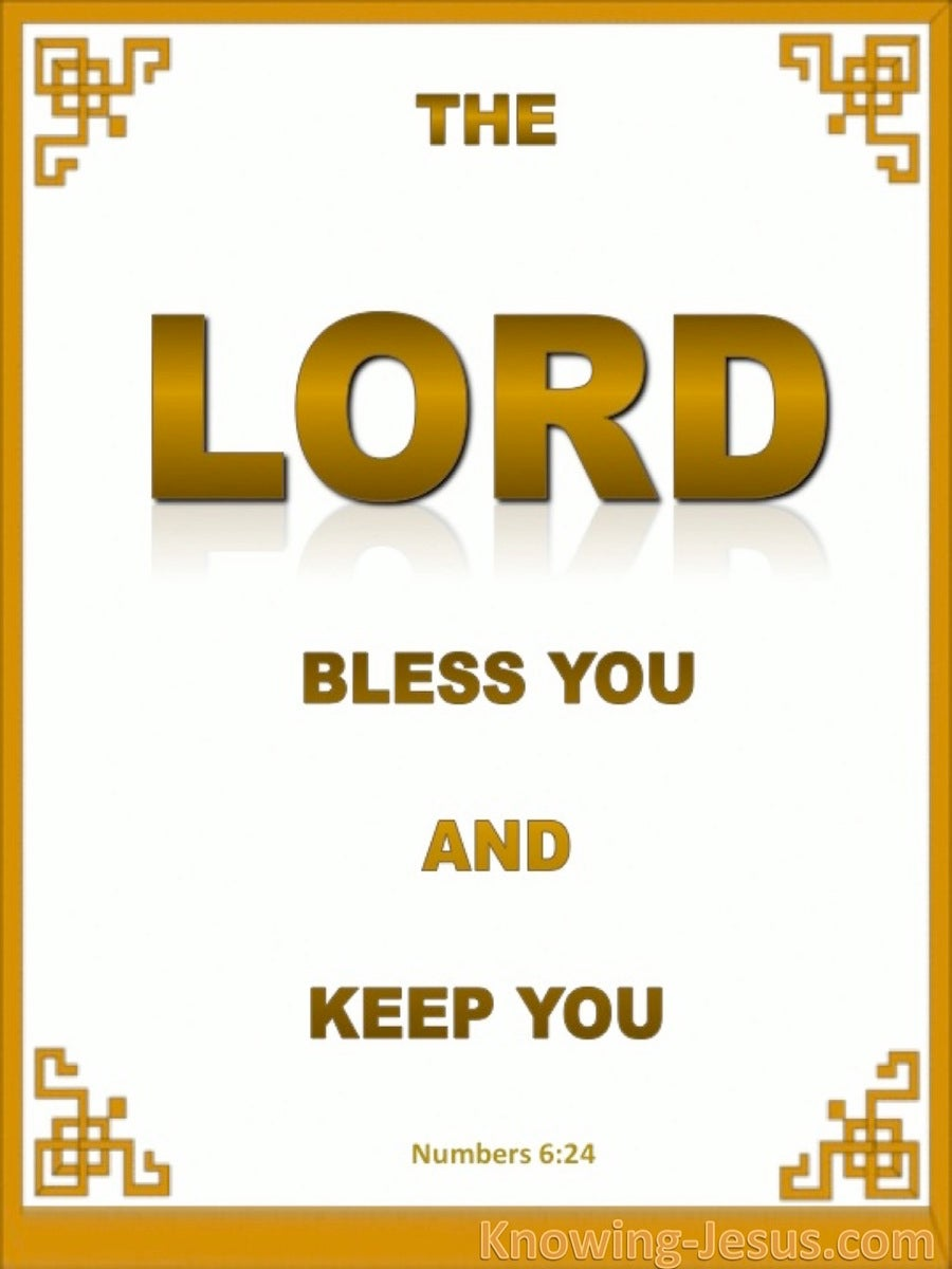 Numbers 6:24 The Lord Bless And Keep You (gold)