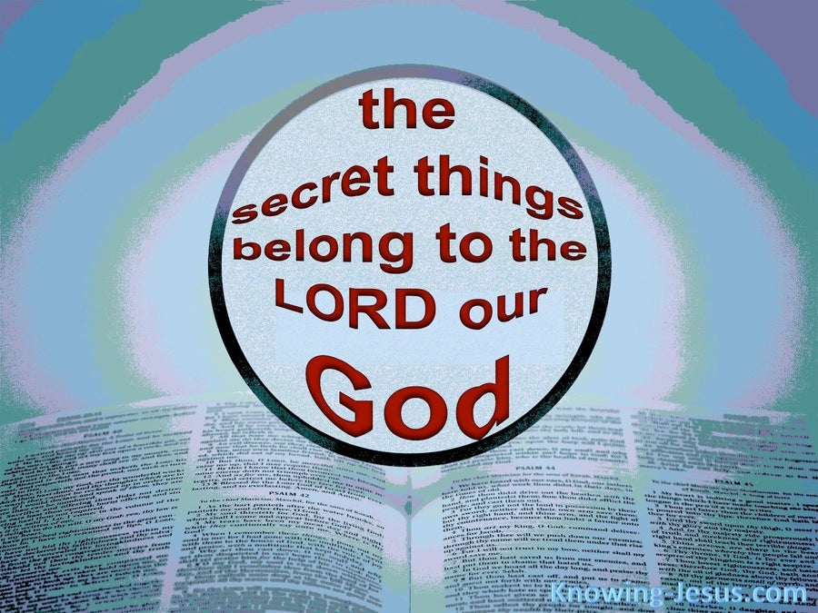 Deuteronomy 29:29 The Secret Things Of God (red)