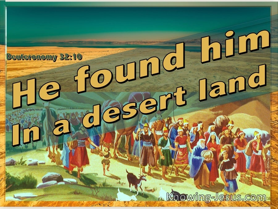 Deuteronomy 32:10 He Found Him In A Desert Land (orange)