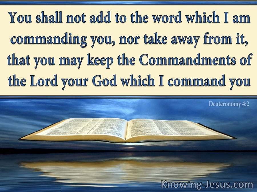 Deuteronomy 4:2 Do Not Add To Or Take Away From The Word Of God (beige)