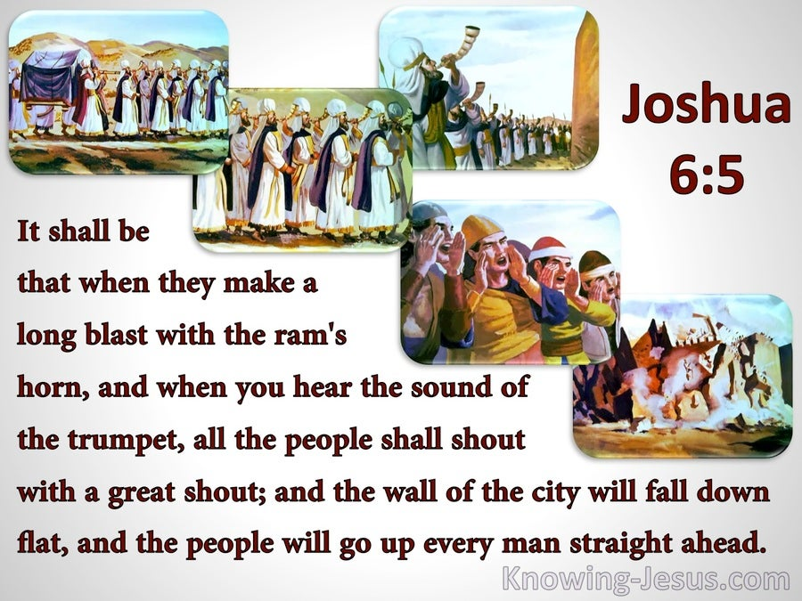 Joshua 6:5 When You Hear The Sound Of A Trumpet (red)