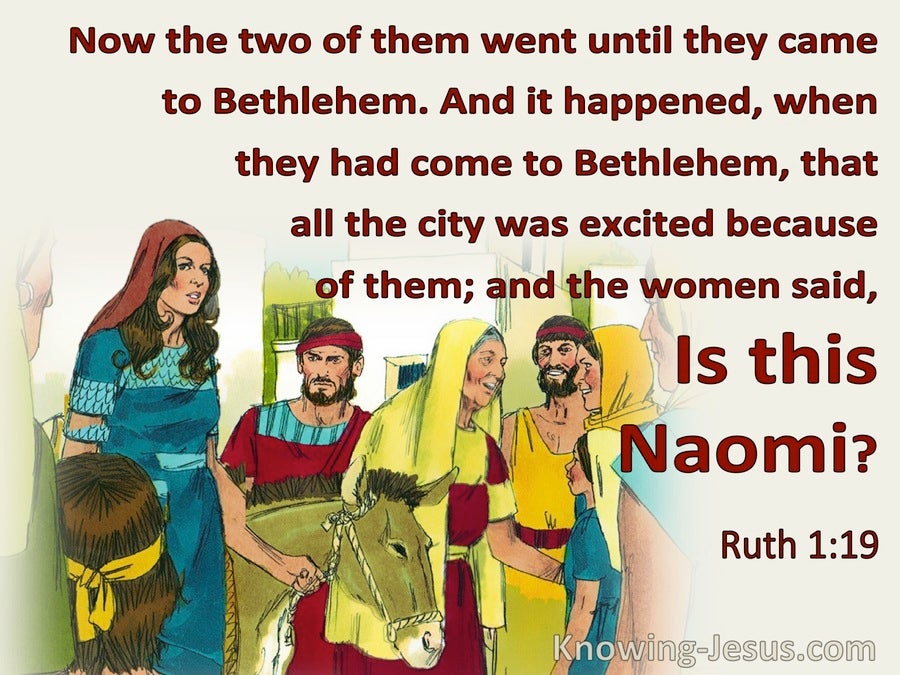 Ruth 1:19 They Went Until They Came To Bethlehem (red)