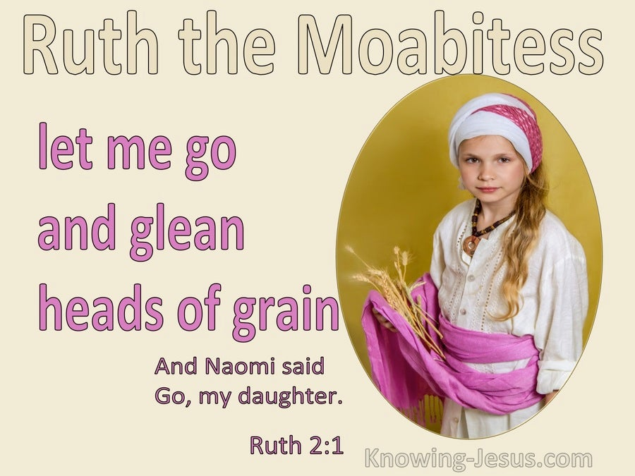 Ruth 2:2 Let Me Go To The Field And Glean Among The Ears Of Grain (pink)