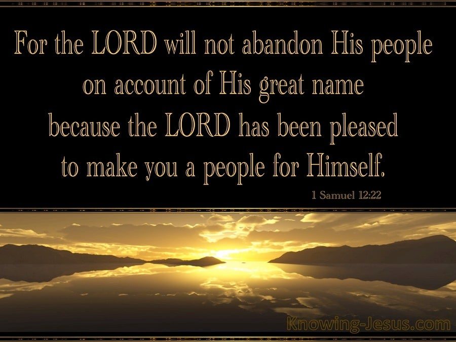 1 Samuel 12:22 The Lord Will Not Abandon His People (brown) ...