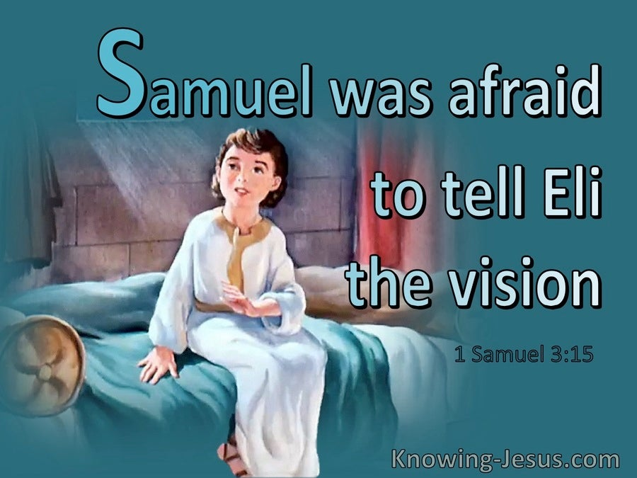 1 Samuel 3:15 So Samuel Lay Down Until Morning (aqua)
