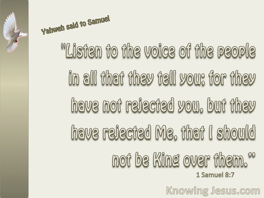 1 Samuel 8:7 They Have Rejected Me As Their King (beige)