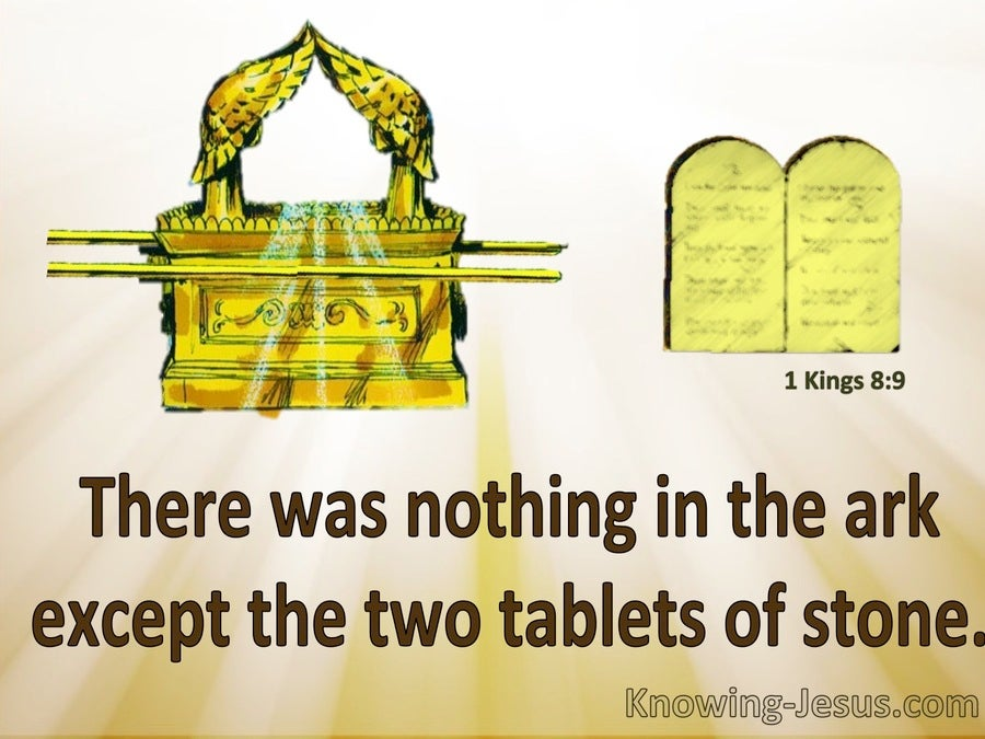 1 Kings 8:9 Nothing In The Ark But Two Tablets Of Stone (yellow)