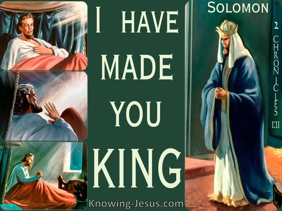 2 Chronicles 1:11 I Have Made You King (green)