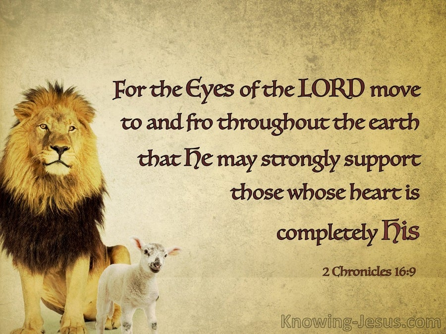 2 Chronicles 16:9 The Eyes Of The Lord (brown)
