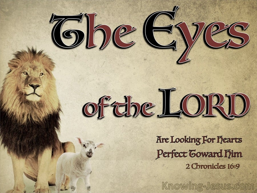 2 Chronicles 16:9 The Eyes Of The Lord (red)