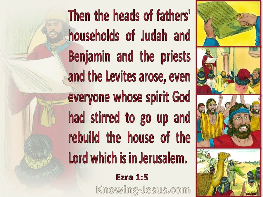 Ezra 1:5 They Arose To Go And Build The House Of The Lord In Jerusalem (beige)