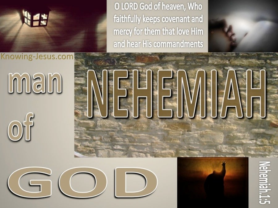 Nehemiah 1:5 Man Of God (devotional)12:01 (beige) (brown)