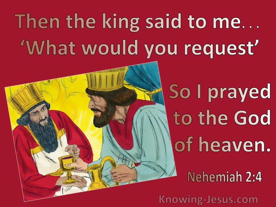 Nehemiah 2:4 What Would You Request (red)