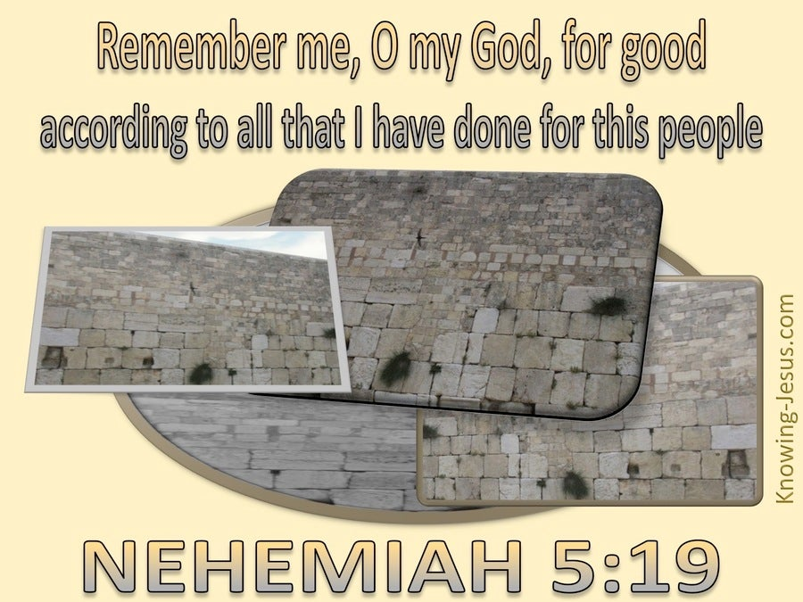 Nehemiah 5:19 Remember Me O Lord (yellow)