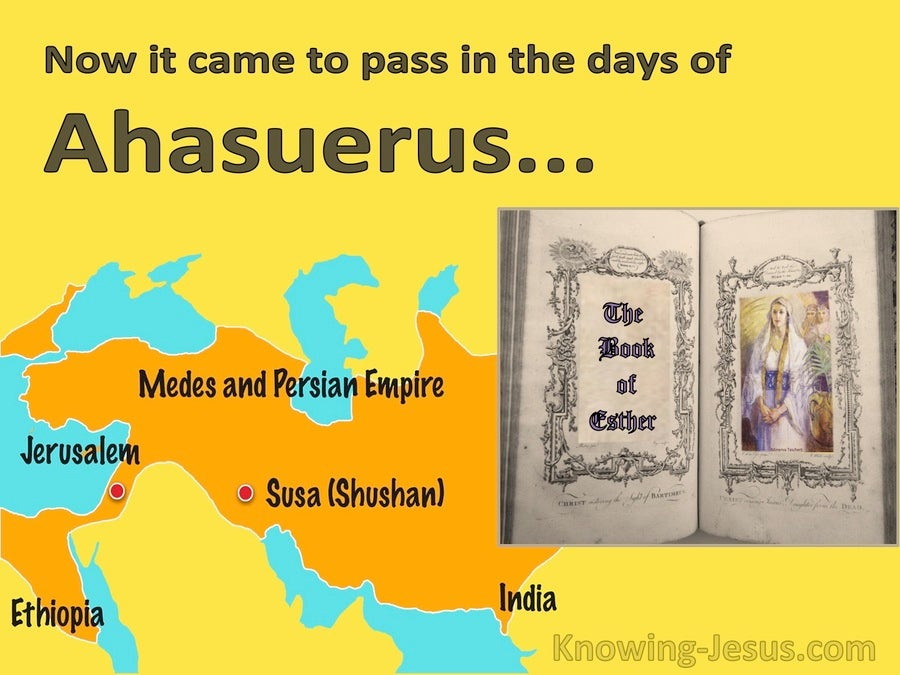 Esther 1:1 It Came To Pass In The Days Of Ahasuerus (brown)