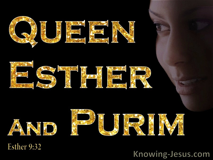 Esther 9:32 The Decree of Esther Established Purim (gold)