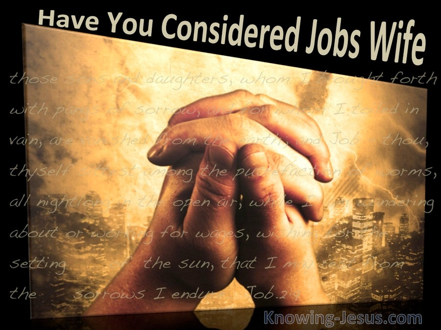 Have You Considered Job's Wife (devotional) (black) - Job:2:9