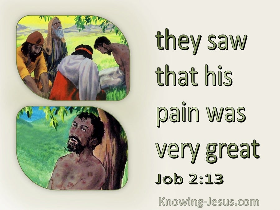 Job 2:13 They Sat On The Ground With Job Seven Days (green)