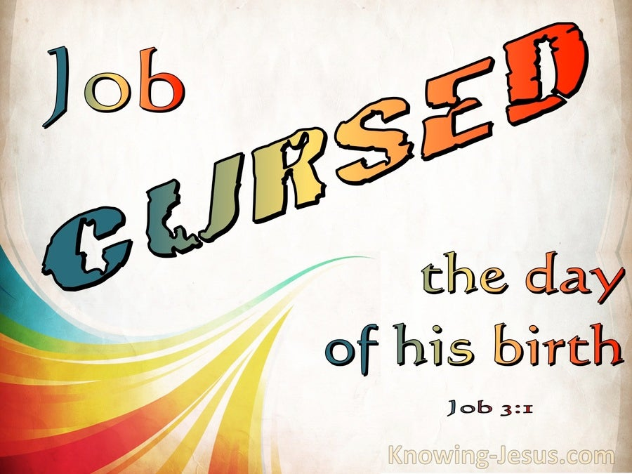 Job 3:1 Job Cursed The Day Of His Birth (beige)